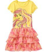 Disney Little Mermaid Tye Dye Tutu Dress 7/8
