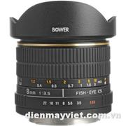 Bower SLY 835C 8mm f/3.5 Fisheye Lens For Canon APS-C EOS Cameras     Mfr# SLY358C