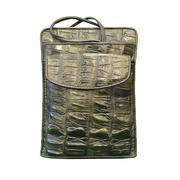 Túi Da Cá Sấu Hoa Cà Màu Vàng Đen 10631