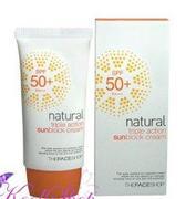 Kem chống nắng chiết xuất từ thiên nhiên của The Face Shop Hàn Quốc Natural triple action sunblock c...