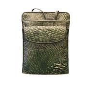 Túi Da Cá Sấu Hoa Cà Màu Đen 10631
