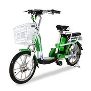 Xe đạp điện i-CITY plus Xanh lá-Trắng