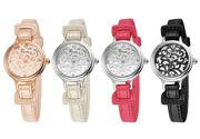 Đồng hồ KIMIO da mặt tròn hoa văn KI024