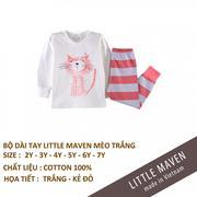 Bộ cotton thu đông Little Maven made in vietnam chất lượng cao Size 2y- 3y - 4y-5y-6y-7y