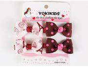 Bộ 4 kẹp tóc Yokikids dành cho bé từ 2-5 tuổi