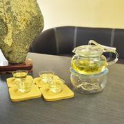 Bộ ấm chén trà thủy tinh số 57 Bạch Hạc Trà