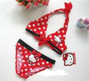 Áo bơi Hello Kitty chấm bi đỏ bé gái