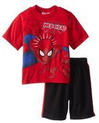 Marvel Little Boys´ Spiderman Short Set, Red