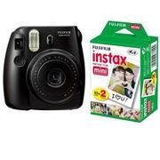 Bộ máy chụp ảnh lấy ngay Fujifilm Instax Mini 8 (Đen) + Hộp phim Fujifilm Instax Mini 10 tấm + 1 bộ ...