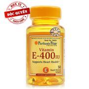 Viên uống bổ sung Vitamin E Puritan's Pride Vitamin E-400 IU 50 viên - 50858