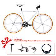 Xe đạp Topbike Fix Lazang khung màu trắng