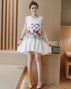Đầm Bầu Thêu Hoa