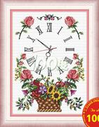 Đồng hồ giỏ hoa