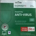 Kaspersky Anti Virus (KAV) 2015 3 users bản quyền 1 năm (thẻ)