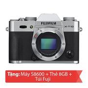 Máy ảnh Mirrorless Fujifilm X-T10 Body (Bạc)
