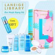 Laneige Library version - Bộ dưỡng da ẩm mượt rạng rỡ (new)