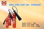 Bình chữa cháy CO2 xách tay  ECO EVERSAFE
