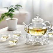 Bộ ấm chén trà thủy tinh số 68 Bạch Hạc Trà
