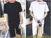 Bộ đồ thể thao nam tay áo kẻ sọc quần short năng động BQAN65