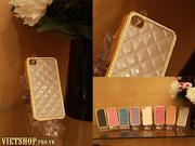 Ốp da bóng fashion luxury iPhone 4-4s