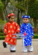 Áo dài trẻ em gấm Thái Tuấn chất lượng size từ 1 đến 6 tuổi ( 8kg đến 25kg )