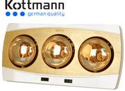 Đèn sưởi nhà tắm Kottmann 3 bóng vàng K3B-H