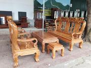 Bộ bàn ghế đồng kỵ gỗ lim tay 10