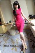 Đầm ôm màu hồng