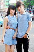 Thun Couple Váy Sọc
