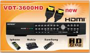 Đầu ghi hình kỹ thuật số H.264 VDTECH VDT-3600HD
