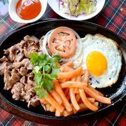 Bò Mỹ Giá Việt - Combo Bò Né Corner + SinhTố Cho 02 Người Tại Steak Corner Restaurant