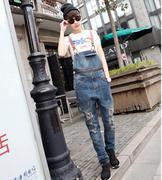 quần yếm jeans rách