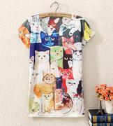 áo thun nữ hình con mèo
