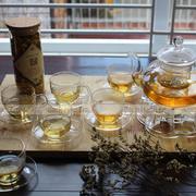 Bộ ấm chén trà thủy tinh số 65 Bạch Hạc Trà