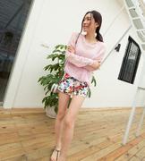 quần short nữ hoa trẻ trung