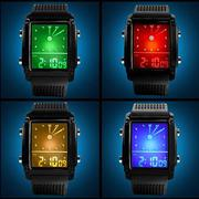 Đồng hồ unisex Skmei Led đổi màu-SK017