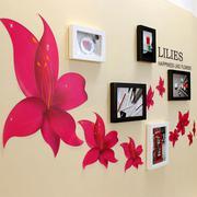 Bộ khung ảnh treo tường hoa ly đỏ BinBin KA23 (Nhiều màu)