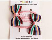 Bộ 2 kẹp tóc nơ vải Yokikids dành cho bé từ 2-8 tuổi