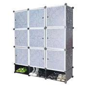 Tủ nhựa đa năng 12 ngăn Tupper Cabinet TC-12B-W (đen cửa trắng)