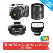 Máy ảnh Canon Mirrorless EOS M (Bạc) với ống kính 18-55/M22/90EX