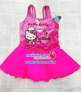Áo bơi Kitty hồng chân váy size 3-12 tuổi