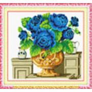 Bình hoa hồng (màu xanh)