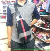 Túi đeo bao tử sọc màu gắn logo burberry sành điệu TDBT5