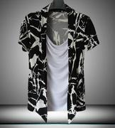 áo thun giả 2 áo cổ đổ