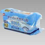 Giấy ướt LEC 99,9% nước tinh khiết Núi Fuji 60 tờ x 3 gói E-466