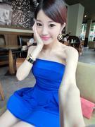 Váy đầm quây màu xanh
