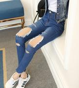 quần jeans skinny rách lỗ