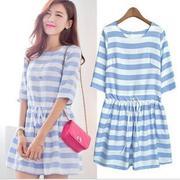 Váy đầm sọc xanh