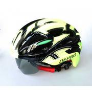 Nón bảo hiểm kèm kính chống nắng DEPRO DH-6051 (đen xanh lá cây)