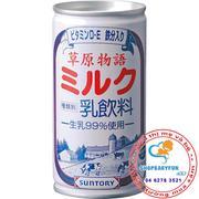 Sữa tươi Suntory của Nhật -lon sắt 190g